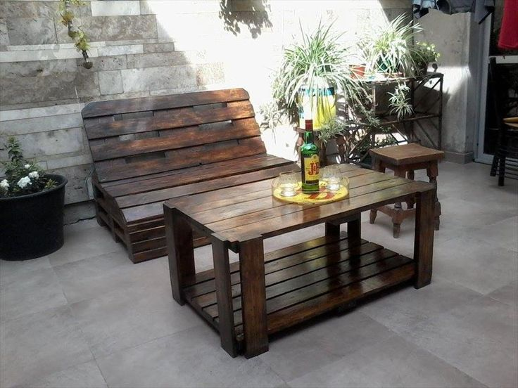 Pallet Wood Outdoor Furniture Set
