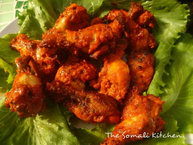 Digaag Duban - spicy baked chicken - an appetiser with attitude!