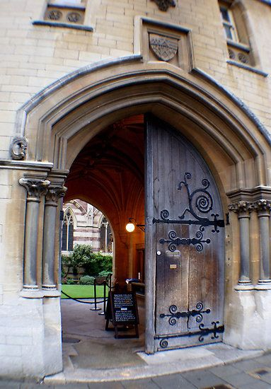 Entrance to Balliol College, Oxford. My rooms were across the grass and to the right (next door to chapel, where I had to play the organ for a service every day).
