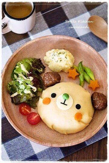 Bear lunch.『【くまちゃんオムライスのランチプレート】』