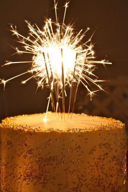 Vanilla Bean New Year's Cake (or adult birthday cake)