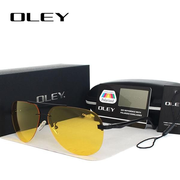 12c54f8a585 OLEY Yellow Polarized Sunglasses Men night vision glasses Brand Designer  women spectacles car drivers Aviation goggles