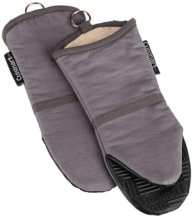 Cuisinart Oven Mitt With Non Slip Silicone Grip Heat Resistant To 500 F Grey 2 Pack Silicone Oven Mitt Cuisinart Oven Oven Mitts