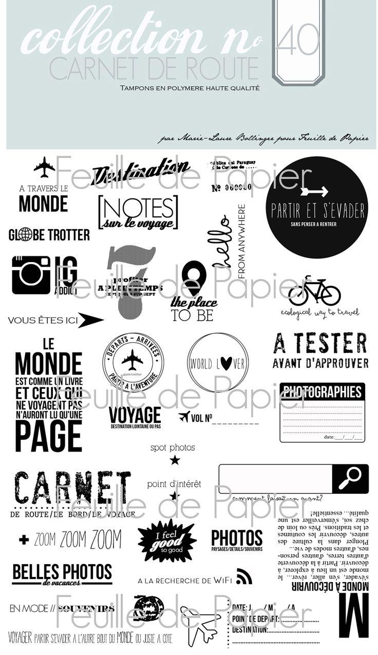 MATERIEL > Tampons > Marie-Laure Bollinger pour Feuille de papier > Collections N° 40 Carnet de route - Feuille de papier - Kits en ligne