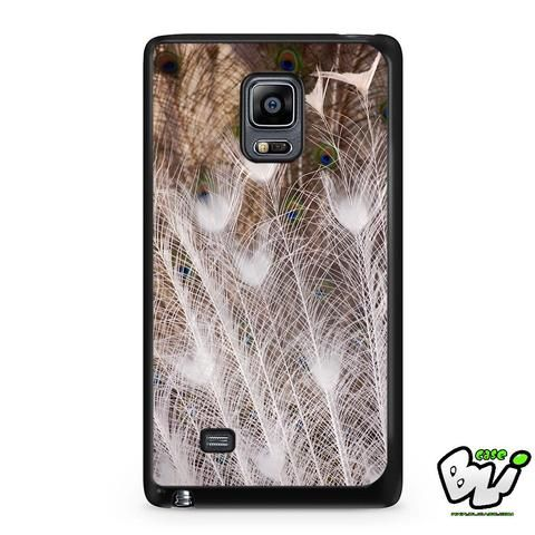 White Peacock Feathers Samsung Galaxy Note Edge Case