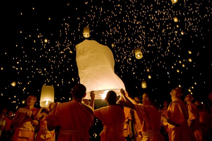 Chinese Flying Wish Lanterns