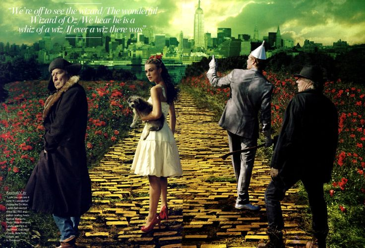 The Wizard of Oz with Keira Knightley and John Currin as the Tin Man by Annie Leibovitz for Vogue. Description from pinterest.com. I searched for this on bing.com/images