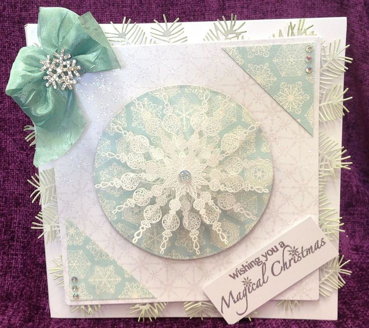 Made by Chloe using Stamps by Chloe Beaded Snowflake