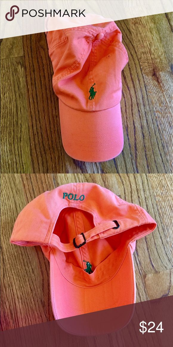 Polo by Ralph Lauren hat Orange polo hat with green horse detail Polo by Ralph Lauren Accessories Hats
