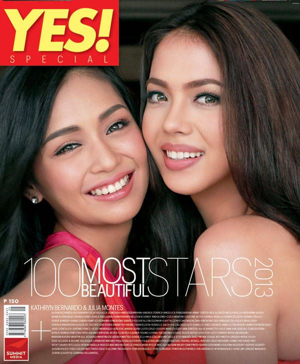 <i>Julia Montes and Kathryn Bernardo Are This Year's Most Beautiful Stars According To Yes!</i>