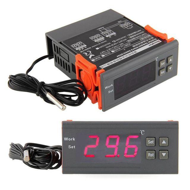 220V -50~110 Celsius Digital Temperature Controller LCD Display Thermostat Relay w/Sensor Diagnostic-tool