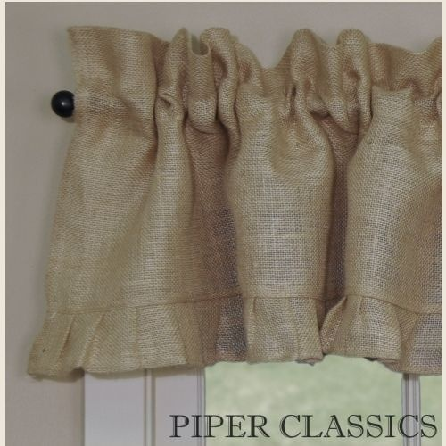 Curtains Ideas cream burlap curtains : 17 Best ideas about Burlap Valance on Pinterest | Country kitchen ...