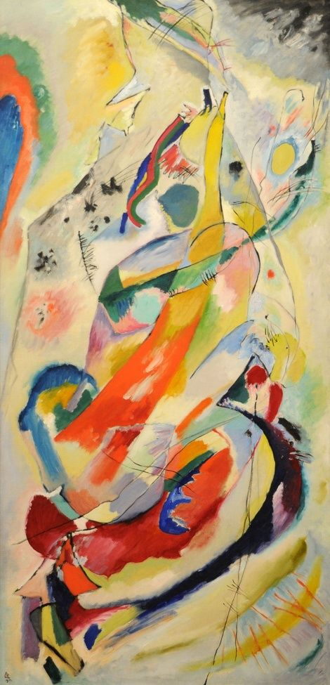 Wassily Kandinsky, Panel for Edwin Campbell, #1 on ArtStack #wassily-kandinsky-vasilii-vasil-ievich-kandinskii #art