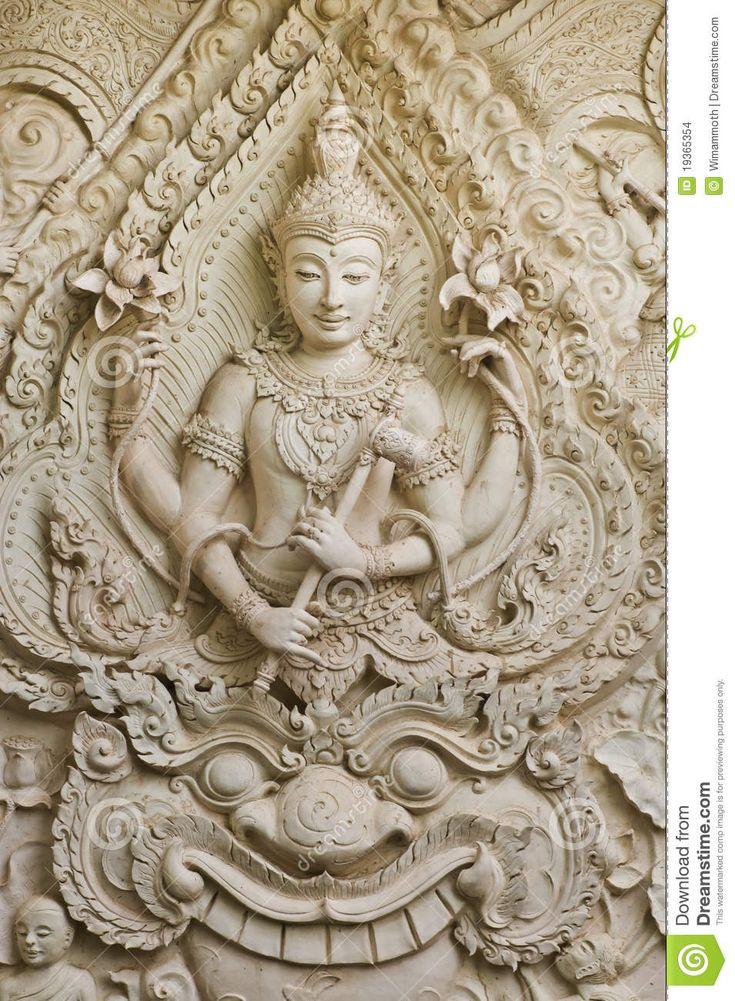 Standbeeld van Boedha in Thaise stijl molding kunst. Stock Afbeeldingen - Afbeelding: 19365354