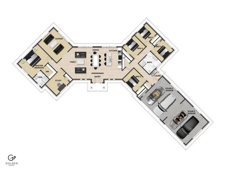 Mono 283 Floorplan #GoldenHomes