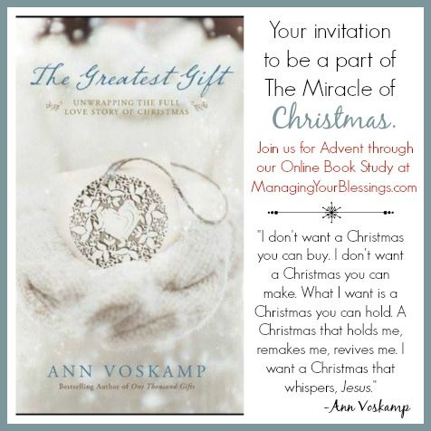 The Greatest Gift | Ann Voskamp | Small Group Reviews