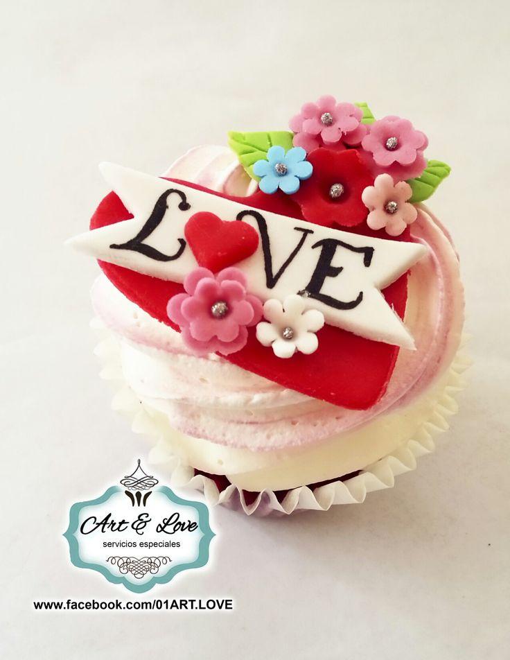 Dia del amor y la amistad cupcake