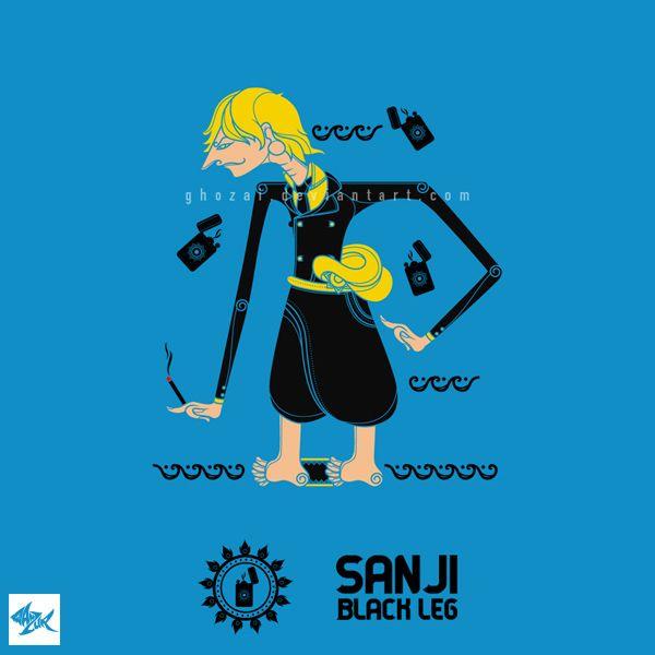 fan art from anime/manga One Piece by Eichiro Oda in wayang style