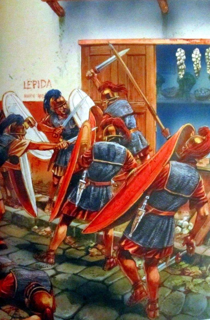 Urban combat between legions during the Roman Civil War