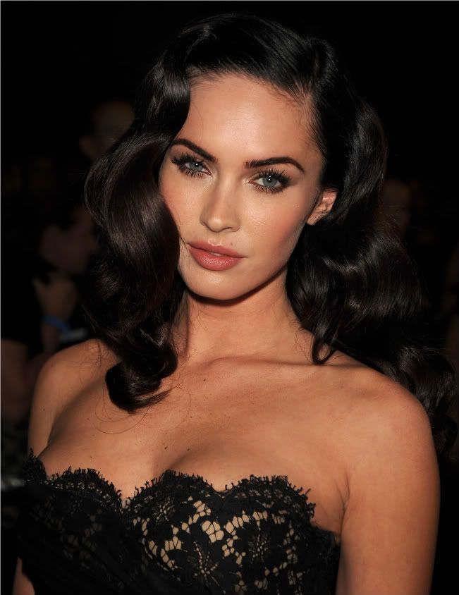 Megan Fox hair and makeup look. Flawless.