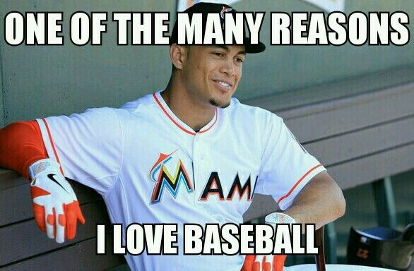 Giancarlo Stanton! Best hitter to ever play the game!...in my lifetime, anyway...