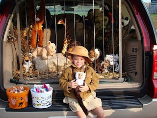 Trunk or Treat idea-baby gate and monsters....