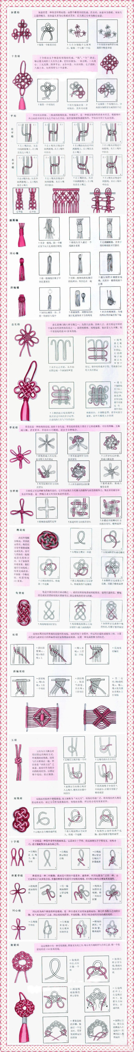 Chinese knot step-by-step  pattern tutorial DIY