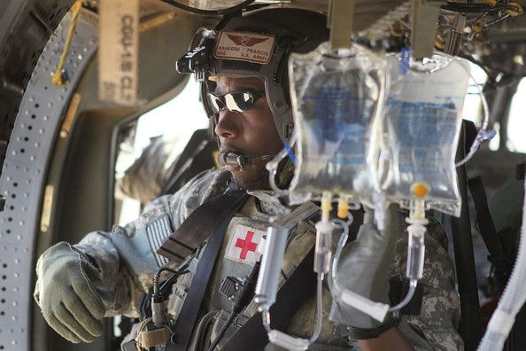 U.S. Army flight medic SSG Rahkeem Francis of the Queens borough of New York City with Dustoff Task