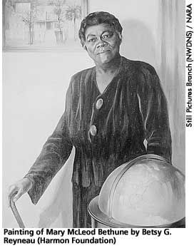 Mary McLeod Bethune (1875-1955) a top black administrator in the Roosevelt administration.