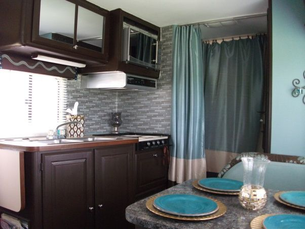 941 best pimp my r v images on pinterest caravan campers and travel trailers - Stain inside of cabinets ...