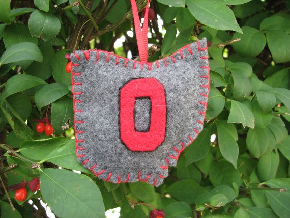 Ohio State ornament --Buckeye proud!
