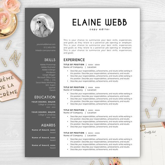 17 best Resumes with Photos images on Pinterest Cover letter - naming a resume