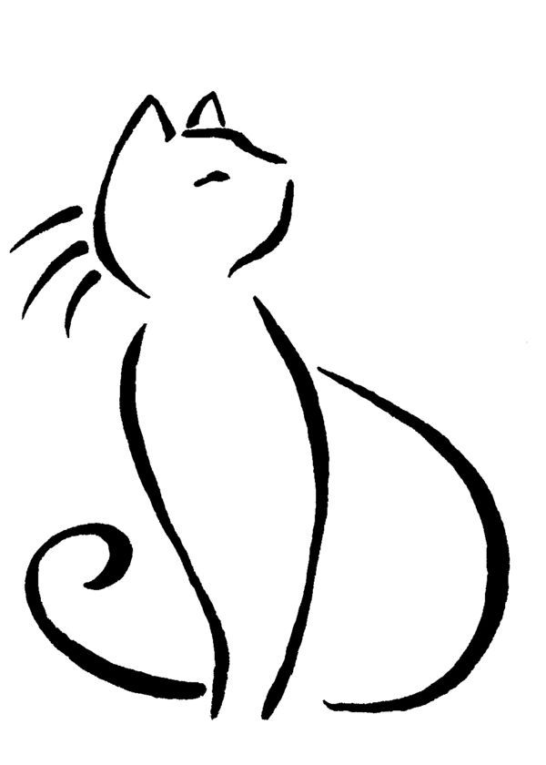 cat line drawing tattoo - Google Search