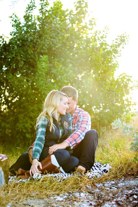 Preppy rustic winter styled anniversary engagement shoot with monograms, s'mores and hot cocoa   Photo: Set Free Photography