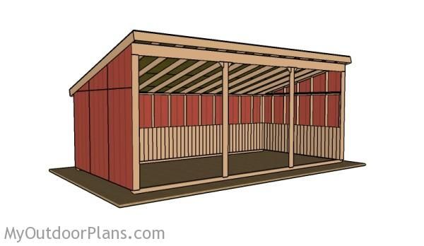Loafing shed plans outdoor shed plans free pinterest for Free pole shed plans