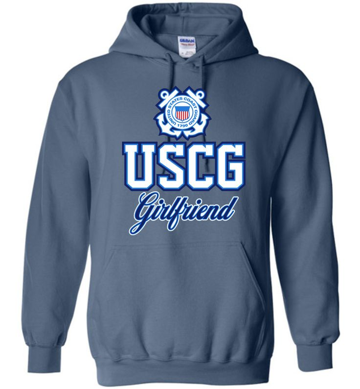 Tell the world you're proud to be a Coast Guard girlfriend with our original USCG hoodie design. These stylish low-cost pullover hoodies are top gifts for U.S.C.G. girlfriends. More fitted than the av