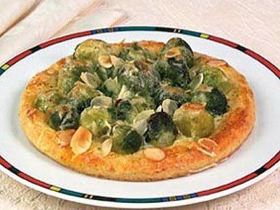 Вегетарианская Пицца. Рецепт с брюссельской капустой и соусом песто