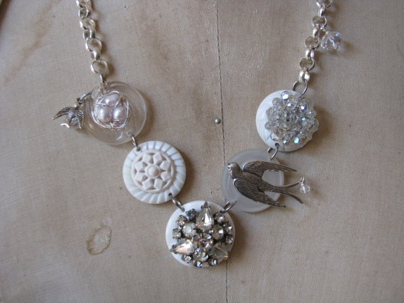 A vintage button necklace