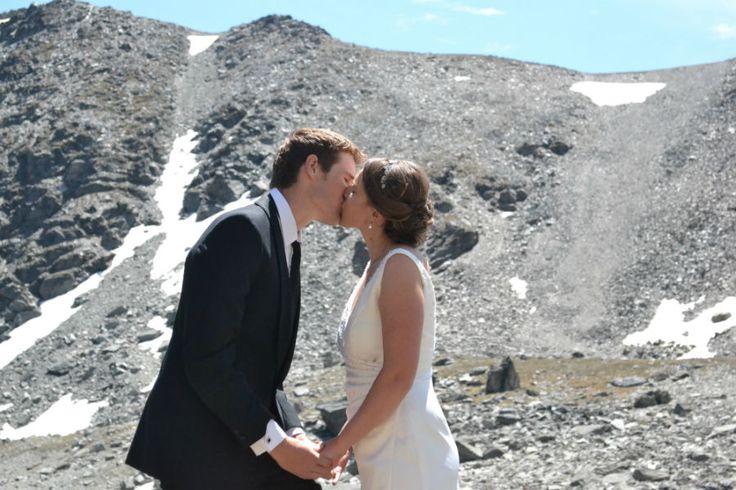 Bride and Groom's first kiss as husband and wife.  #mountainwedding #queenstownwedding #newzealandwedding #realwedding #firstkiss #brideandgroom #realwedding #lakesidewedding #queenstown #theremarkables #lakealta #snow #mountains #wedding #couple #kiss #bride #groom #queenstownmarriagecelebrant #yourbigdayqt #yourbigdayyourway