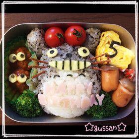 ♡幼稚園のお弁当に!トトロキャラ弁♡