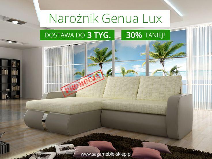 Wyjątkowa okazja - narożnik Genua Lux w cenie niższej aż o 30% i z szybką dostawą - do 3 tygodni! Do wyczerpania zapasu, więc nie zastanawiajcie się zbyt długo :)  http://sagameble-sklep.pl/narozniki/7446-promocja-naroznik-genua-lux.html