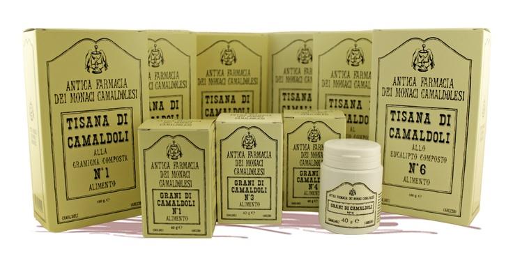 Le tisane di Camaldoli: lassative, depurative, rilassanti, dimagranti, digestive e balsamiche. Anche in grani.