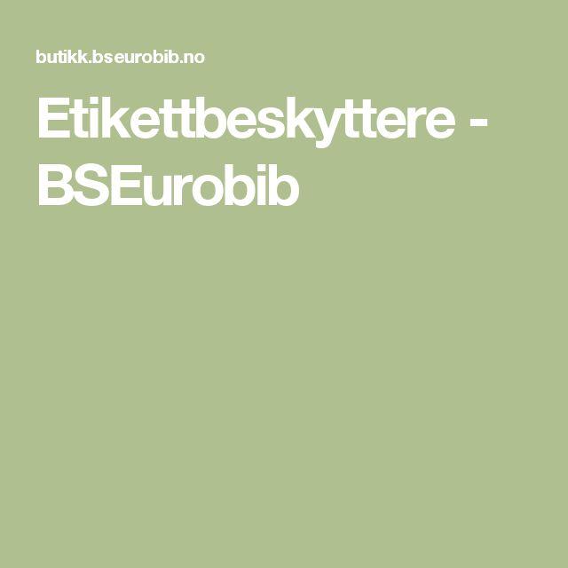 Etikettbeskyttere - BSEurobib
