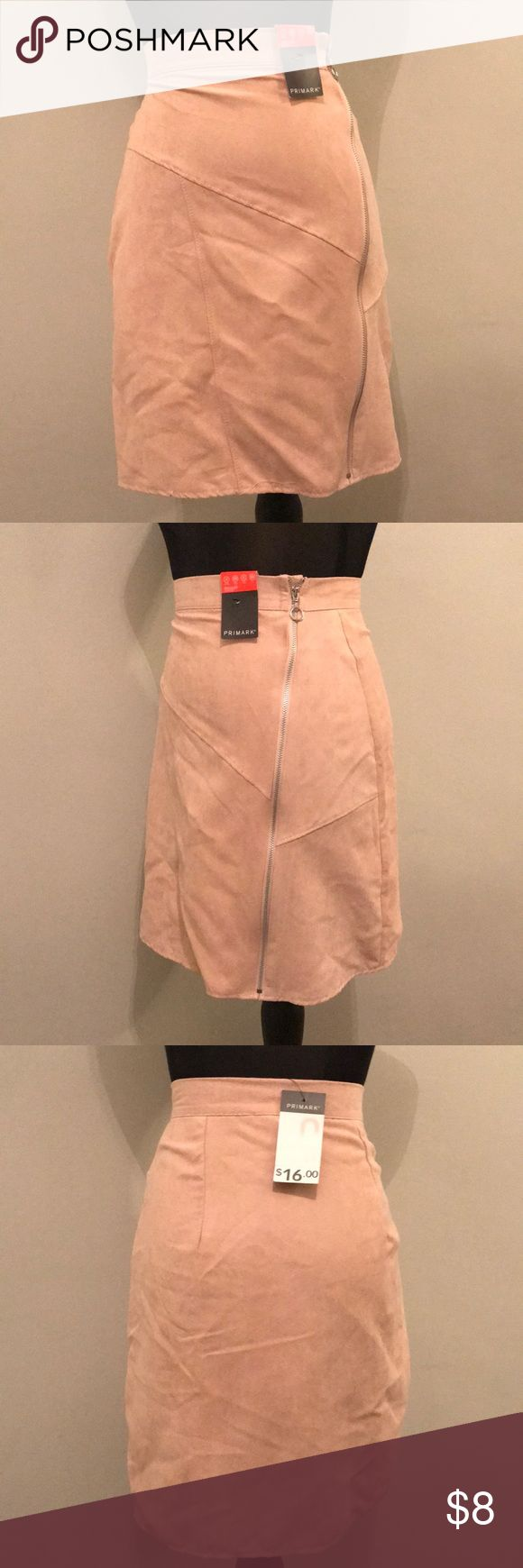 Nude high waisted mini skirt. Brand new w/ tags Nude high waisted mini skirt. brand new, never worn with tags ! primark Skirts Mini