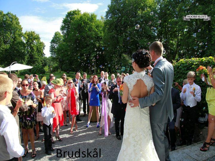 lycka, bubbel, nygifta, bröllop, vackert par, slott,