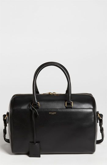 Saint Laurent 'Duffle - Small' Leather Satchel available at #Nordstrom I'm in love!