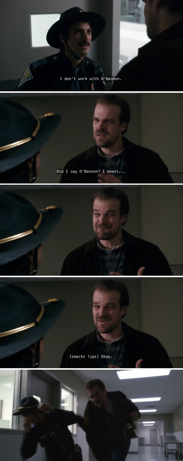 This Chief Hopper moment was ICONIC - Stranger Things
