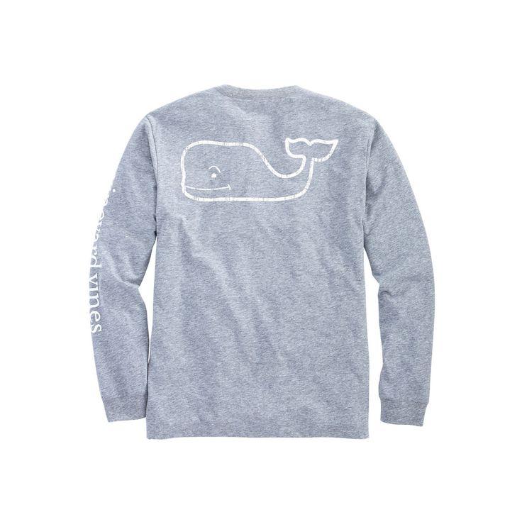 Vineyard Vines Vintage Whale Heather Pocket T-Shirt in Heather Grey
