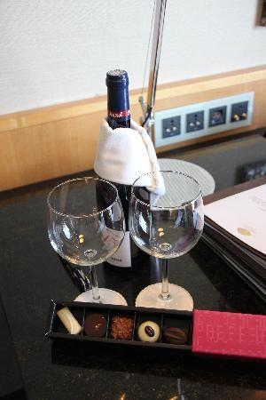 Complimentary Wine & Chocolate