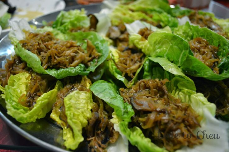 Love to Cheu: Bangkuang Char - Yam Bean Lettuce Cups